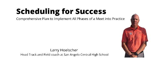 Scheduling for Success: Comprehensive Plan to Implement All Phases of a Meet into Practice