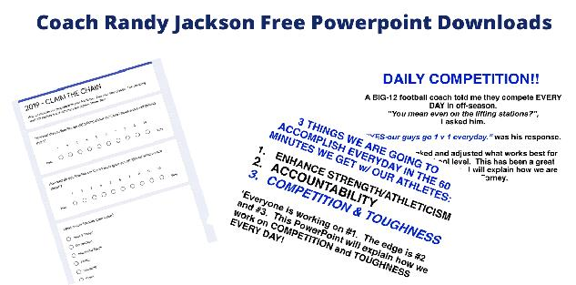 Coach Randy Jackson End of Year Google Form and Daily Competition PPT for your Team