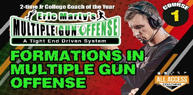 Course 1: Formations in Multiple Gun Offense