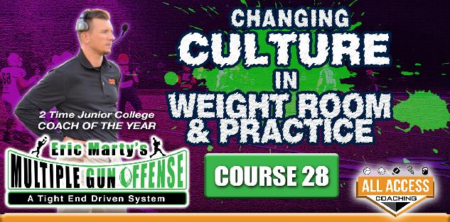 Course 28: Using Wt Room & Practice Field to Change Culture