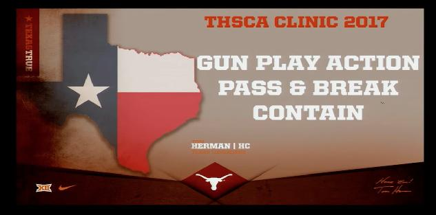 Play Action Pass & Break Contain-Tom Herman, University of Texas