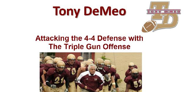 Attacking the 4-4 Defense with The Triple Gun Offense