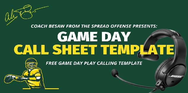 Game Day Call Sheet Template