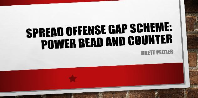 Spread Offense Gap Scheme: Power Read and Counter