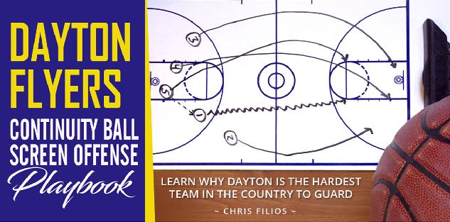 Dayton Flyers Continuity Ball Screen Offense Playbook