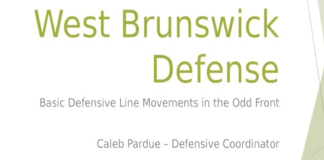 Fundamental Defensive Line Movement in the Odd Front