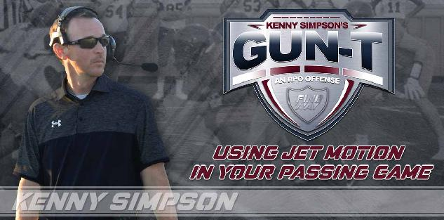 Coach Simpson`s Gun T RPO offense - Using Jet Motion in your passing game