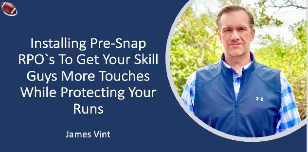 Installing Pre-Snap RPO`s To Get Your Skill Guys More Touches While Protecting Your Runs