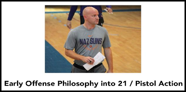 Early Offense Philosophy into 21/Pistol Action