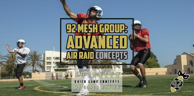 Advanced Quick Game Concepts for the Air Raid Offense