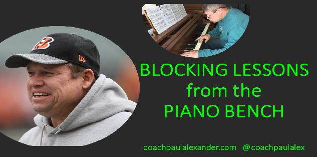 BLOCKING LESSONS from the PIANO BENCH by Coach Paul Alexander