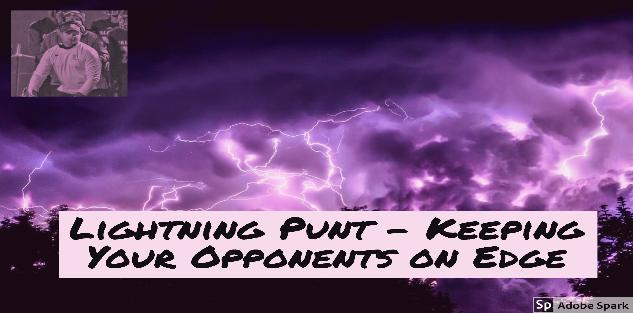 Lightning Punt - Keeping Your Opponents on edge during 4th Down