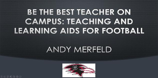 Be the Best Teacher on Campus: Teaching and Learning Aids for Football
