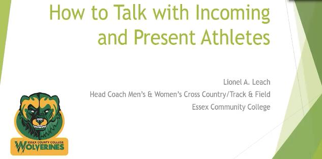 How to Talk with Incoming and Present Athletes
