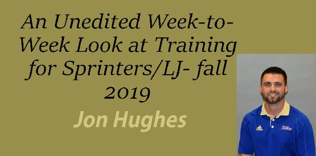 An Unedited Week-to-Week Look at Training for Sprinters/LJ- fall 2019