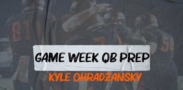 Kyle Ohradzansky- Game Week QB Prep