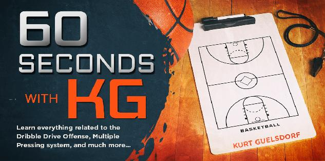 60 Seconds with KG! (Learn Dribble Drive Motion Offense)