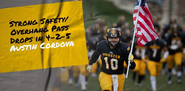 Strong Safety/Overhang Pass Drops in 4-2-5: Austin Cordova