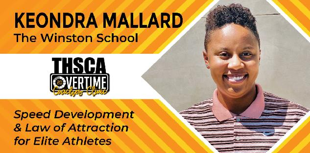 Speed Development & Law of Attraction for Elite Athletes - Keondra Mallard