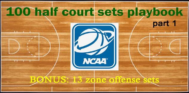 100 NCAA half court sets