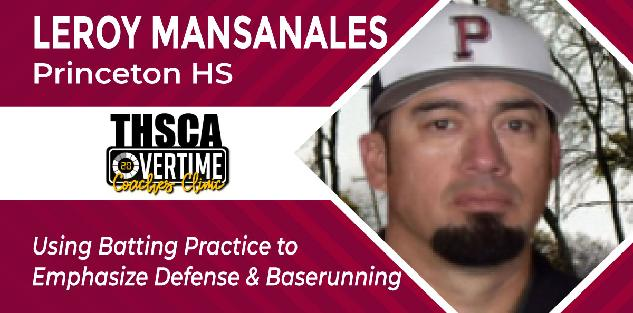 Using Batting Practice to Emphasize Defense/Baserunning - Leroy Mansanales