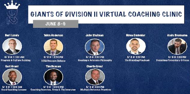 Giants of D2 Virtual Coaches Clinic