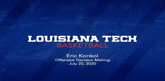 Eric Konkol - Offensive Decision Making