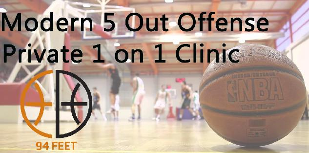 Modern 5 Out Offense Private 1 on 1 Clinic