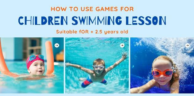 How to use GAMES for swimming lessons