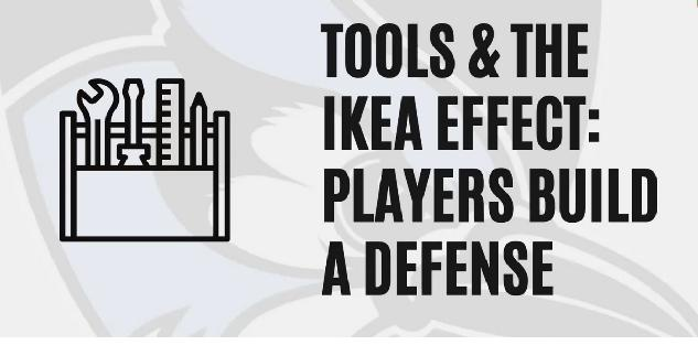 Tools and the Ikea Effect: Players Build a Defense