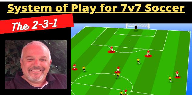 The 2-3-1 System of Play for 7v7 Soccer