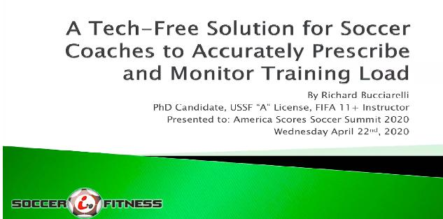 A Tech-Free Solution to Accurately Prescribe and Monitor Training Load