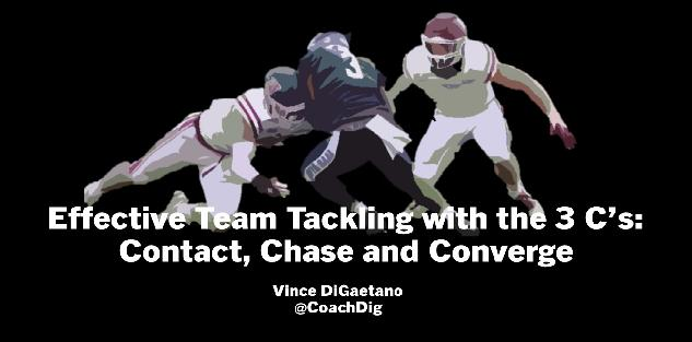 Effective Team Tackling with the 3 C's: Contact, Chase and Converge