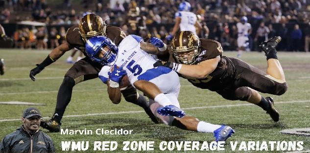 Marvin Clecidor - Western Michigan Red Zone Coverage Variations