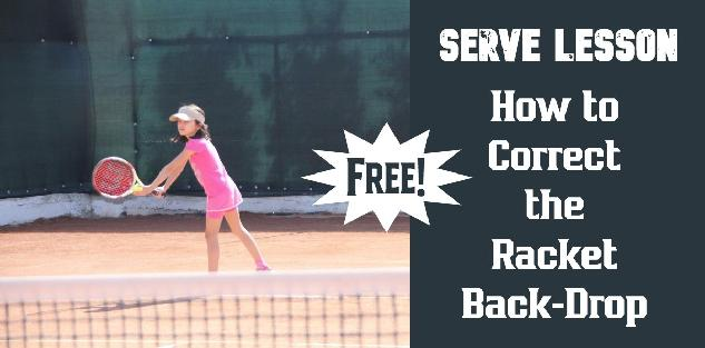 Tennis Serve: How to Correct the Racquet Back-Drop