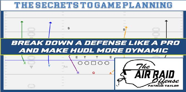 The Secret to Game Planning: Breakdown a Defense like a Pro and make HUDL more Dynamic