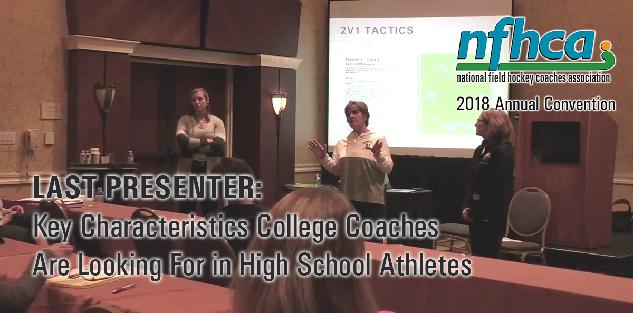Last Presenter: Key Characteristics College Coaches are Looking for in High School Athletes #NFHCA2018