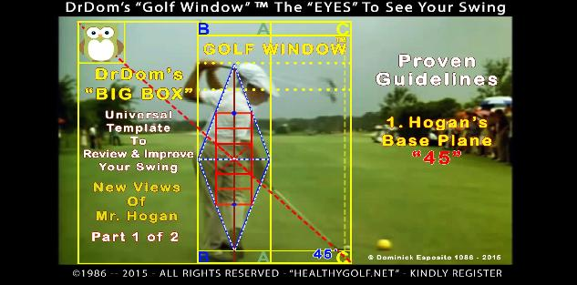 GOLF WINDOW- Ben Hogan CUBIC SCIENCE For SWING IMPROVEMENT