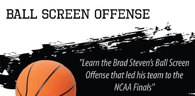 Brad Stevens Butler Ball Screen Offense Playbook