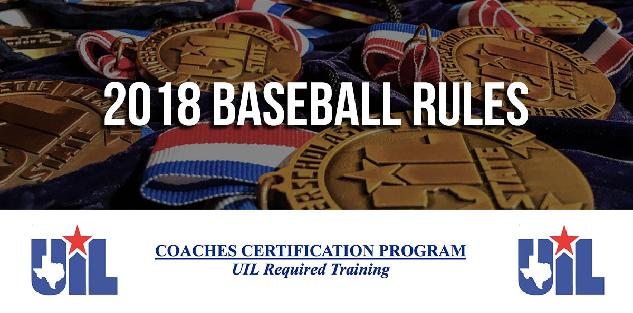 2018 Baseball UIL Rules