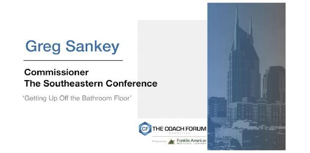 Getting Up Off the Bathroom Floor – Greg Sankey
