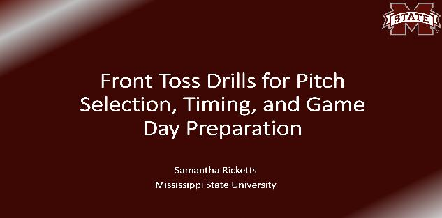 Front Toss Hitting Drills for Pitch Selection, Timing, and Game Day Preparation