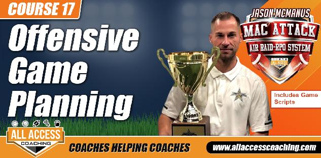 Offensive Game Planning Made Easy in the Spread Offense