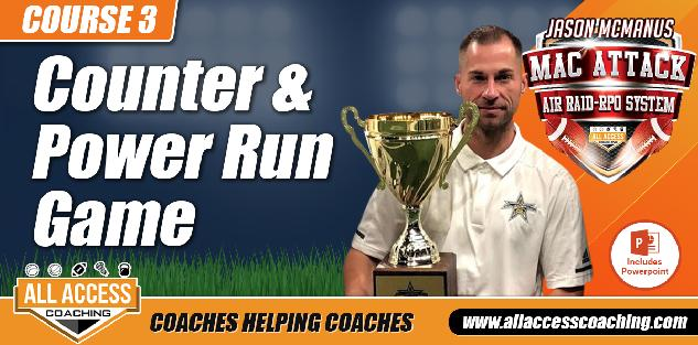 Counter & Power Run Game in No Huddle Spread Offense