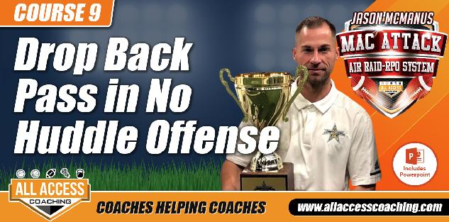Drop Back Passing Game for No Huddle Offense