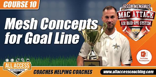 Utilizing Mesh, Pick Routes & Man Beaters for Red Zone & Goal-Line in the Spread Off