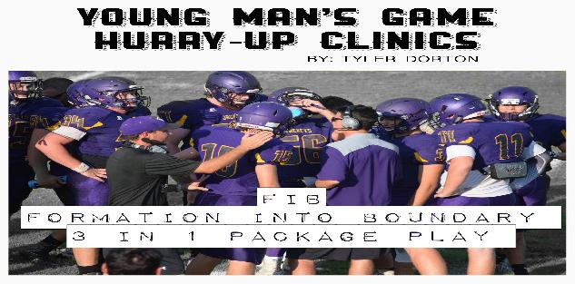 YOUNG MAN`S GAME HURRY UP CLINICS: (F.I.B.) FORMATION INTO BOUNDARY 3 IN 1 PACKAGE PLAY