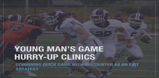 YOUNG MAN`S GAME HURRY-UP CLINICS: Combining Quick Game With QB Counter As An Exit Strategy