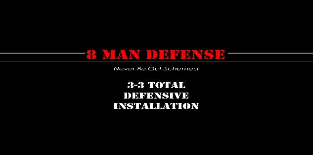 3-3 Total Defensive Installation Package for 8 Man Football