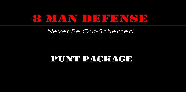 8 Man Football Punt Package